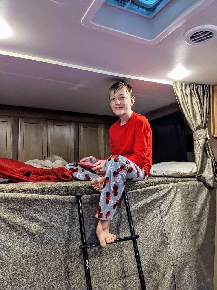 RV cab bunk