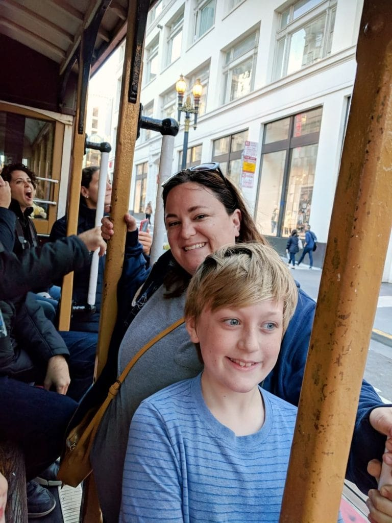 Carter and Mom on Cable Car