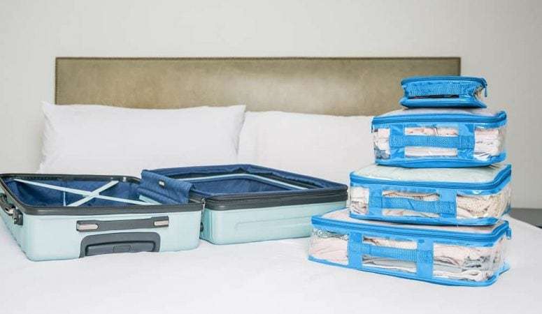 How to use packing cubes on a family trip