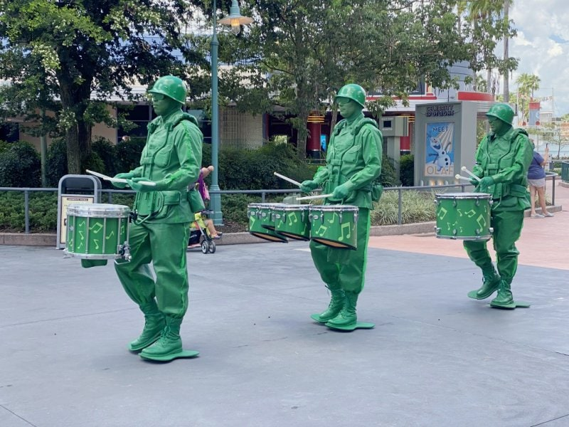 army men in Toy Story Land