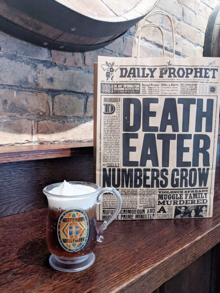 Butterbeer at Harry Potter New York