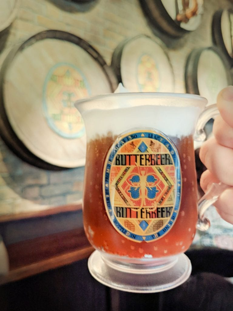 Butterbeer at Harry Potter store
